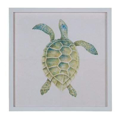 Hand Painted Tortoise Framed Painting Print