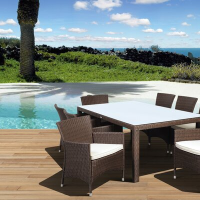 Aquia Creek 9 Piece Dining Set Color: Brown / Off-White