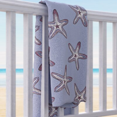 Soft Starfish Beach Towel Color: Blue