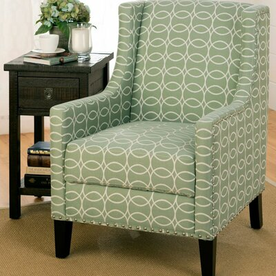 Voorhees Wing back Chair Upholstery: Mint Green