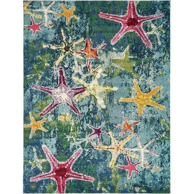 Ethel� Navy Blue Area Rug Rug Size: Runner 27 x 10