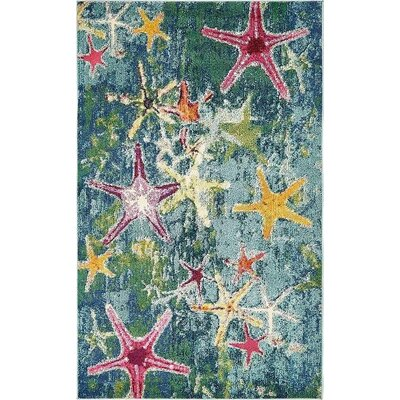 Ethel� Navy Blue Area Rug Rug Size: 5 x 8