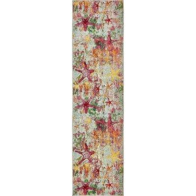Stoneville Beige/Pink Area Rug Rug Size: Runner 2 7 x 10