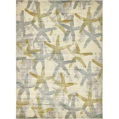 Ethel�Beige Area Rug Rug Size: Rectangle 9' x 12'