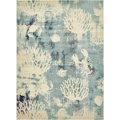 Ethel�Light Blue Area Rug Rug Size: Rectangle 9 x 12
