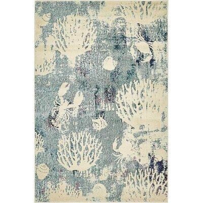 Stoneville Light Blue Area Rug Rug Size: 4 x 6
