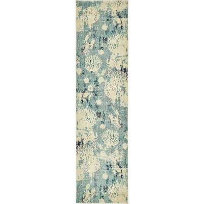Ethel�Light Blue Area Rug Rug Size: Runner 27 x 10