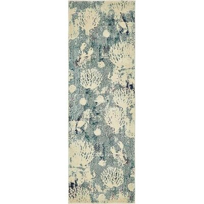 Ethel�Light Blue Area Rug Rug Size: Runner 2 2 x 6 7