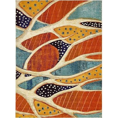 Ethel� Rust Red Area Rug Rug Size: 9 x 12