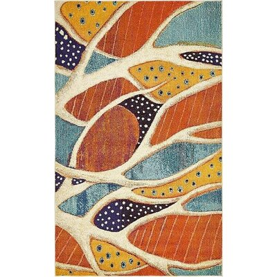 Ethel� Rust Red Area Rug Rug Size: 5 x 8