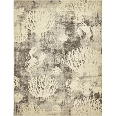 Dickenson Light Gray Area Rug Rug Size: Rectangle 8 x 10
