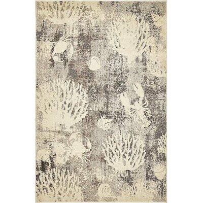 Dickenson Light Gray Area Rug Rug Size: 4 x 6