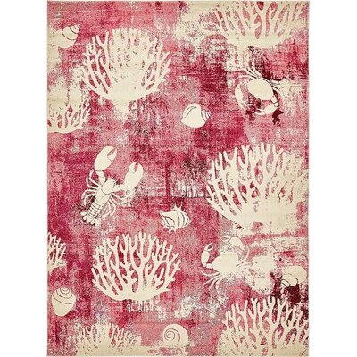 Dickenson Pink Area Rug Rug Size: Rectangle 4 x 6