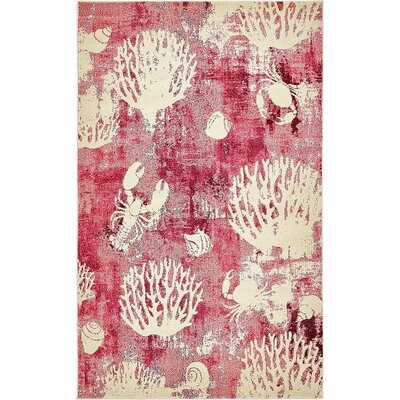 Dickenson Pink Area Rug Rug Size: 5 x 8