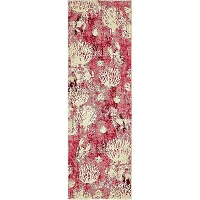 Dickenson Pink Area Rug Rug Size: Runner 2 2 x 6 7