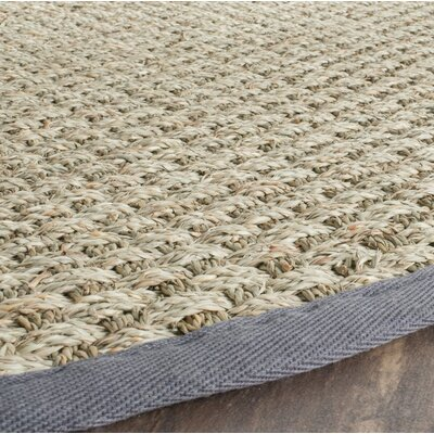Binford Natural/Dark Gray Area Rug Rug Size: Square 8