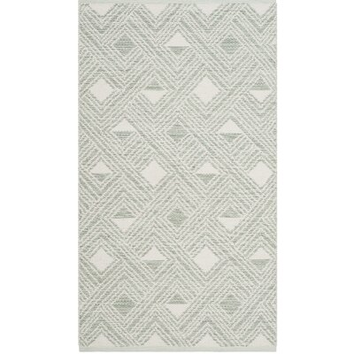 Dominica Hand-Woven Light Green/Ivory Area Rug Rug Size: 3 x 5