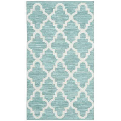 Eliana� Hand-Woven Mint/Ivory Area Rug Rug Size: Rectangle 3 x 5