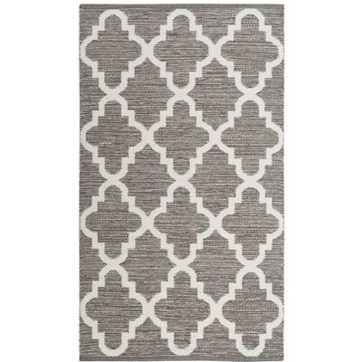 Eliana� Hand-Woven Gray/Ivory Area Rug Rug Size: Rectangle 5 x 8