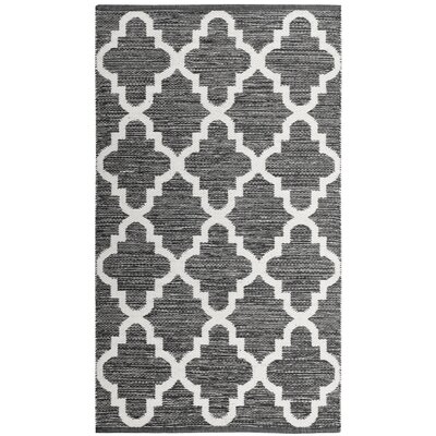 Eliana�Hand-Woven Charcoal/Ivory Area Rug Rug Size: Rectangle 5 x 8