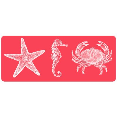 Redeker Coral Nautical Kitchen Mat