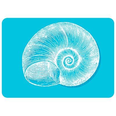 Aruba Turquoise Snail Kitchen Mat