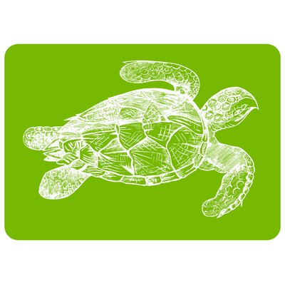 Redeker Lime Turtle Kitchen Mat