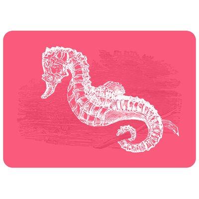 Redeker Pink Seahorse Kitchen Mat