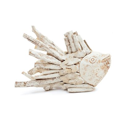Whitewash Driftwood Fish