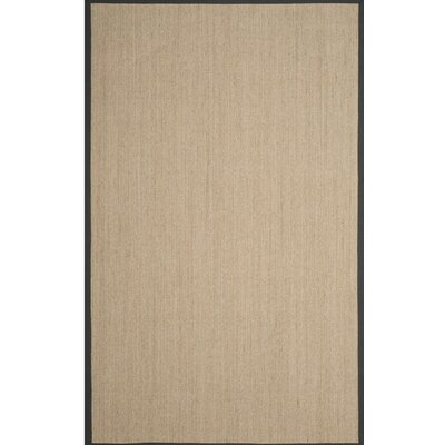 Morfou Natural/Dark Gray Area Rug Rug Size: 6 x 9