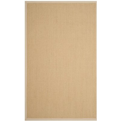 Milikouri Natural/Ivory Area Rug Rug Size: Rectangle 5 x 8
