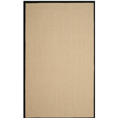Cayman Beige/Black Area Rug Rug Size: Rectangle 9 x 12