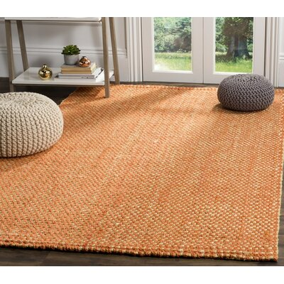 Stantonsburg Hand-Woven Rust/Natural Area Rug Rug Size: Rectangle 9 x 12