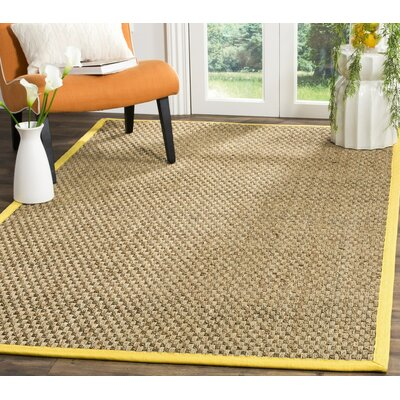 Elba Natural/Gold Area Rug Rug Size: Rectangle 6 x 9
