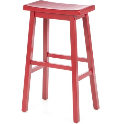 30 inch Bar Stool Finish: Red