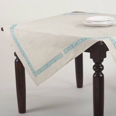 Glenfield Stitched Greek Key Tablecloth