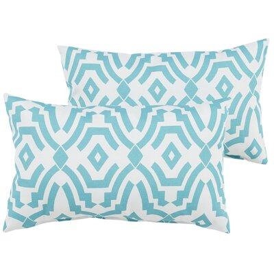 Audina Indoor/Outdoor Lumbar Pillow Color: Aqua