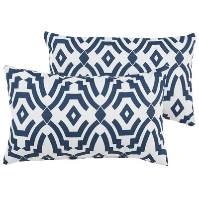 Audina Indoor/Outdoor Lumbar Pillow Color: Navy