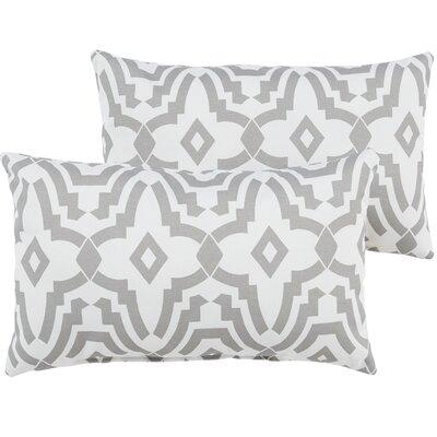Audina Indoor/Outdoor Lumbar Pillow Color: Gray