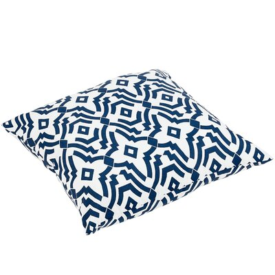 Audina Indoor/Outdoor Floor Pillow Color: Navy
