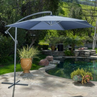 Fullerton Outdoor Cantilever Umbrella Fabric: Navy Blue