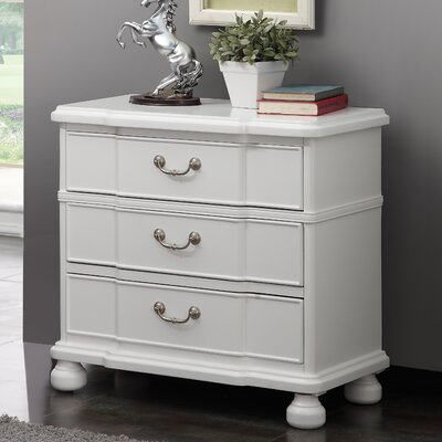 Delview 3 Drawer Dresser Finish: White