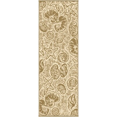Ashburton Beachcomber Beige Indoor/Outdoor Area Rug Rug Size: Runner 110 x 57
