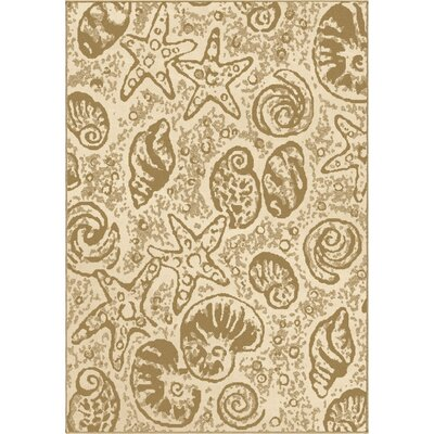 Clarksburg Beachcomber Beige Indoor/Outdoor Area Rug Rug Size: 710 x 1010