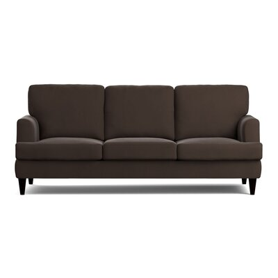 Lowes Replacement Sofa Slipcover Upholstery: Brown Velvet, Skirted: No
