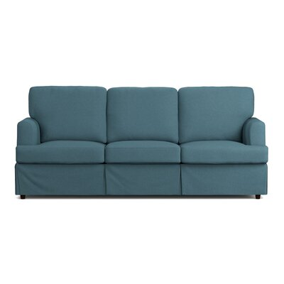 Lowes Replacement Sofa Slipcover Upholstery: Blue Linen, Skirted: Yes