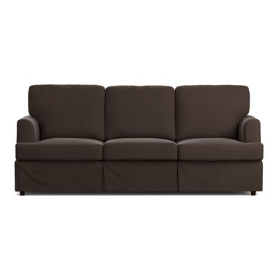 Lowes Replacement Sofa Slipcover Upholstery: Brown Velvet, Skirted: Yes