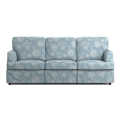 Lowes Replacement Sofa Slipcover Upholstery: Blue Floral, Skirted: Yes