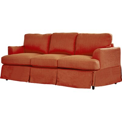 Lowes Replacement Sofa Slipcover Upholstery: Sunrise Red Linen, Skirted: Yes