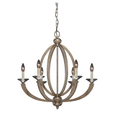 Georgetown 6-Light Candle-Style Chandelier Finish: Gold Dust